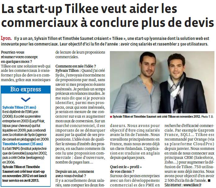 """Article """"Le Progrès"""""""