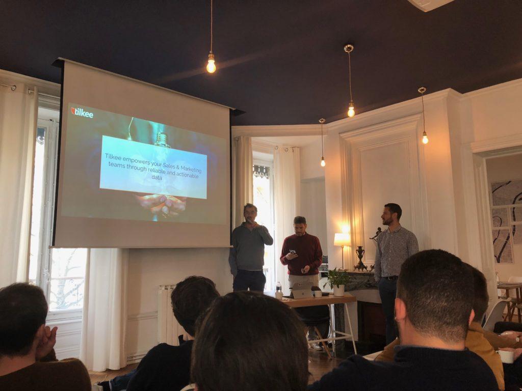 De gauche à droite : Stéphane, Timothée et Sylvain présentant la stratégie des prochains mois